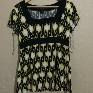 International Concepts Petite Large Yellow Dress L